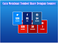 Cara Membuat Tombol Share Media Sosial Dengan Jumlah Total Share / Counter
