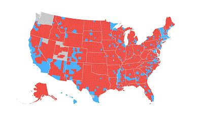 2016 US presidential election: Voting map by counties