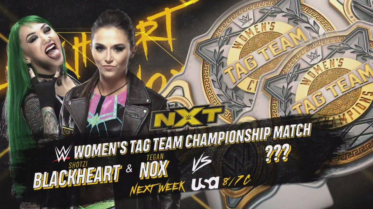 Shotzi Blackheart e Tegan Nox ganham oportunidade por título de duplas no próximo NXT