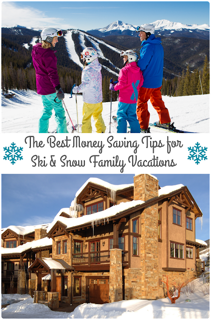 Plan a budget friendly wintertime family getaway this year with these Best Money Saving Tips for Ski & Snow Family Vacations.