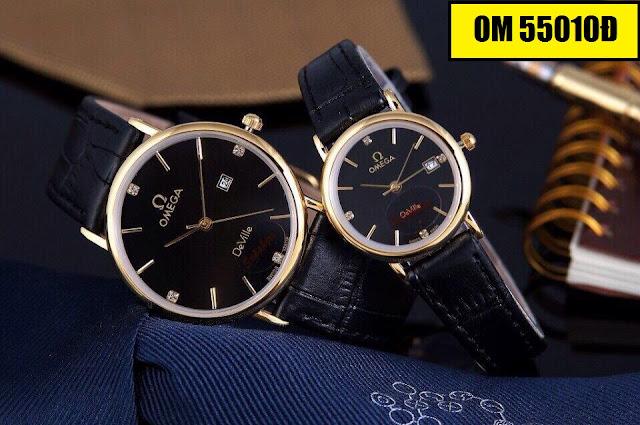 Đồng hồ dây da Omega 55010D