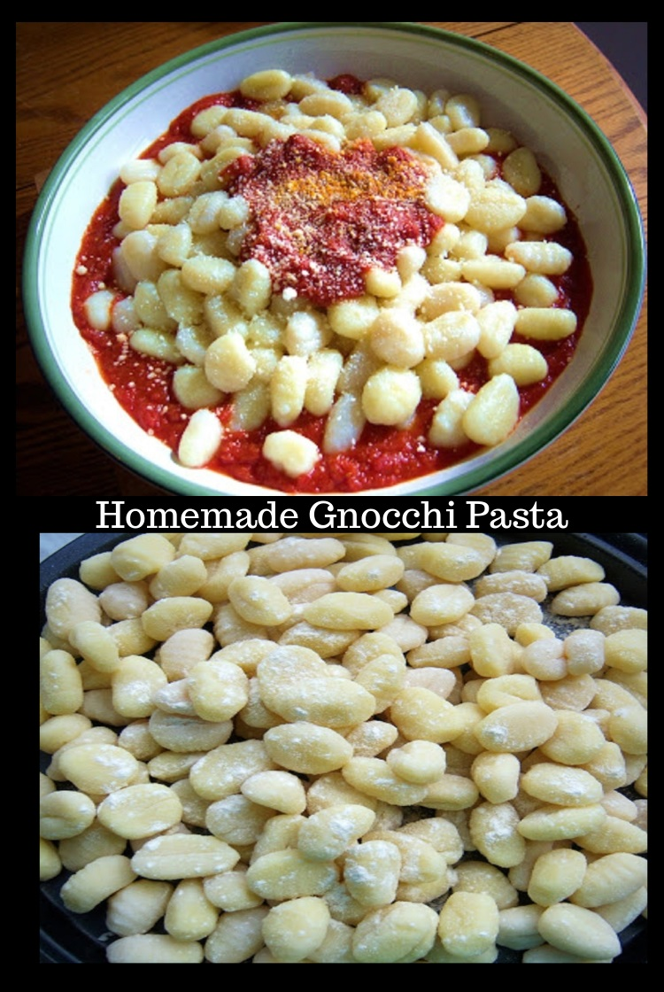 Gnocchi homemade pasta with Traditional Sauce Italian Tomato Sauce