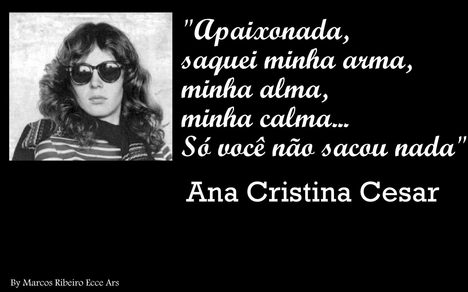 TRIBUNA DA INTERNET | O beijo, num doce momento de amor, na visão poética  de Ana Cristina Cesar