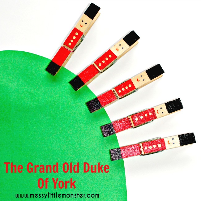 The Grand Old Duke of York Craft: Peg soldiers