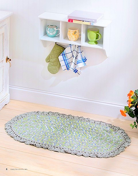 tshirt yarn colorful rug crochet pattern