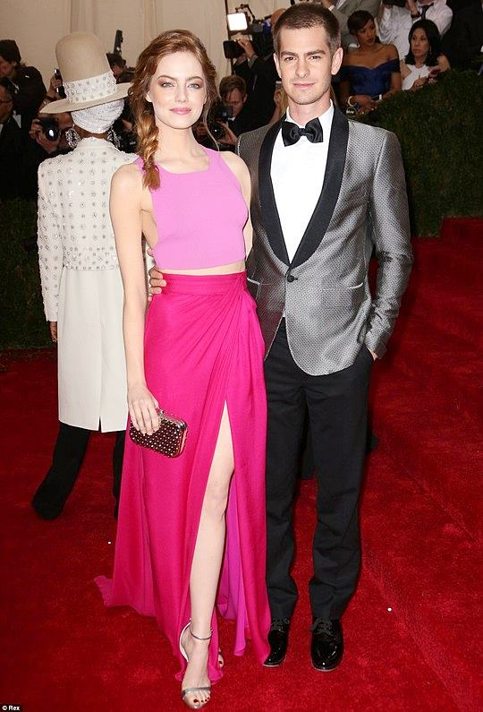 Fashionable Couples at the 2014 Met Gala Emma Stone in Thakoon and Andrew Garfield in Band of Outsiders