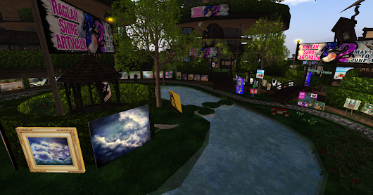 More from ArtWalk 2017! Welcome area at Raglan Shire.