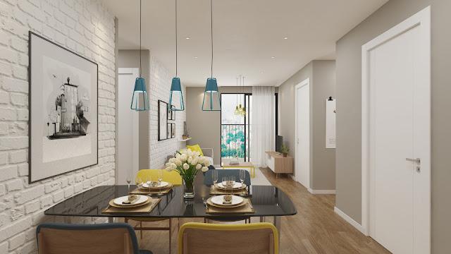 Mẫu thiết kế phòng khách căn hộ The Golden An Khánh
