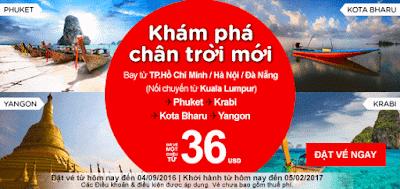 Đặt vé máy bay khám phá chân trời mới từ Air Asia