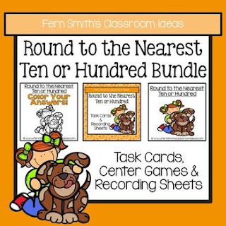 Fern Smith's Classroom Ideas Rounding to the Nearest Ten or Hundred BUNDLE at TpT.