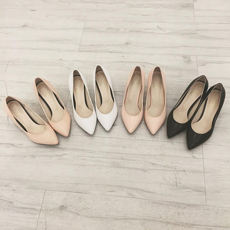 eea9d0857f4d9 Pointy midi lady heels