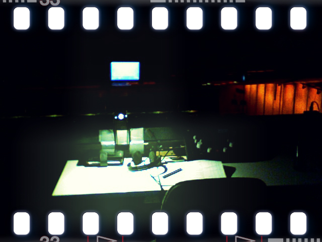 Dolmetscherkabine im Kino