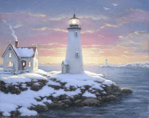 """Harbor Lights"" Painting © Richard Burns"