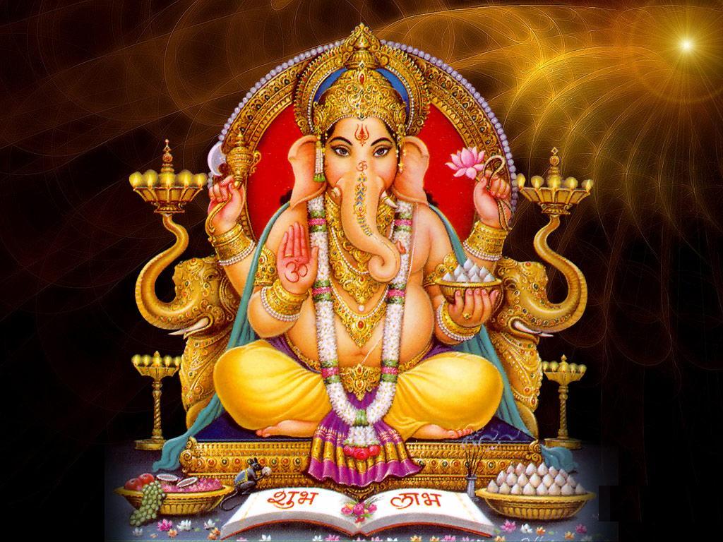 GANESH GANESHA Hindú Elefante Dios indio pendientes frontal frente a tono Plata Gancho