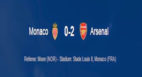 Hasil Monaco Vs Arsenal