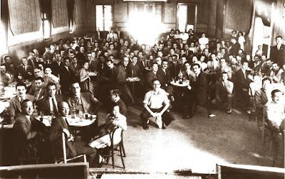Celebración después de las simultáneas de ajedrez, 6 de julio de 1930