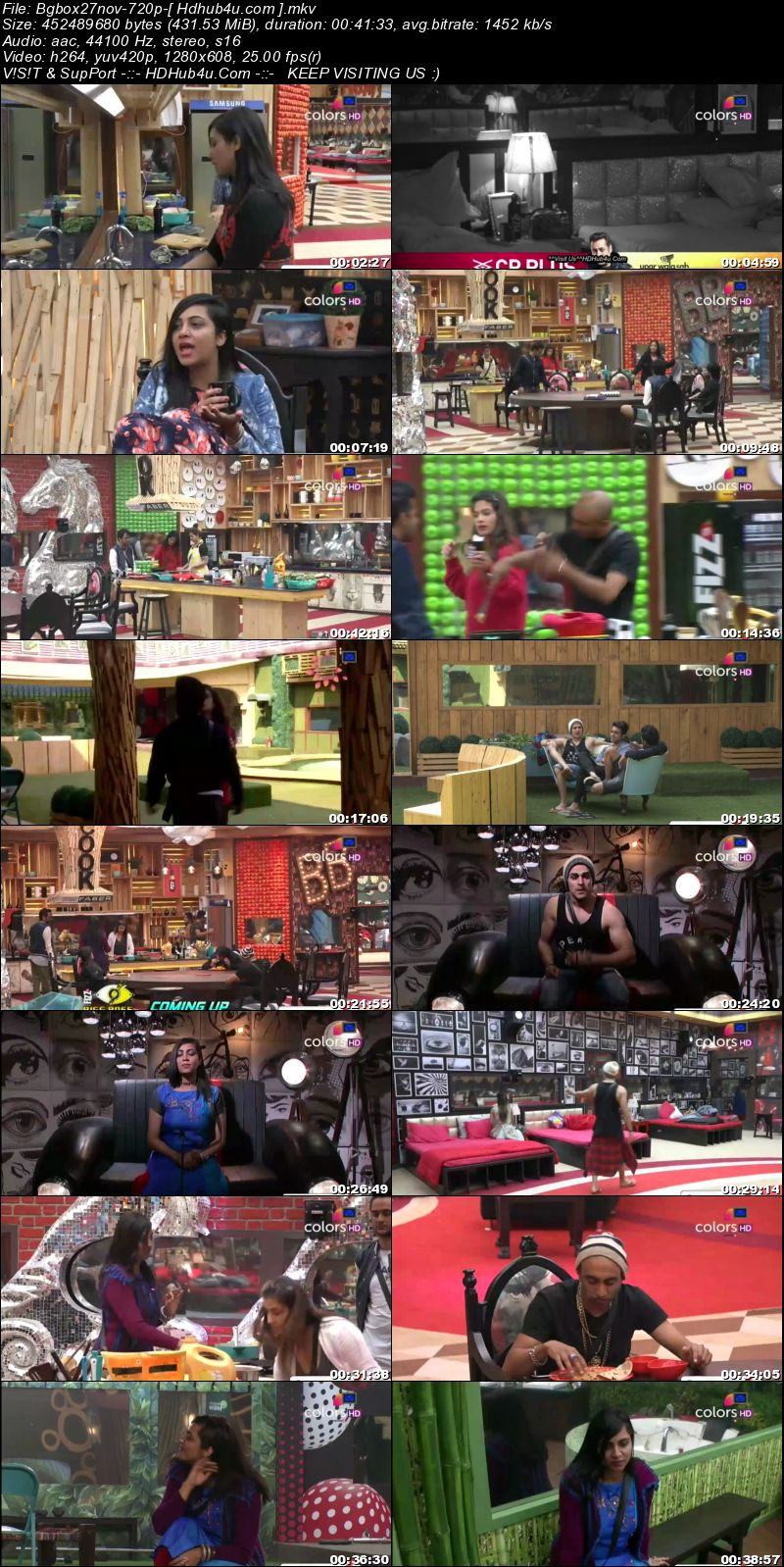 Bigg Boss S11E58 27th November 2017  HDTV 480p 190MB Download