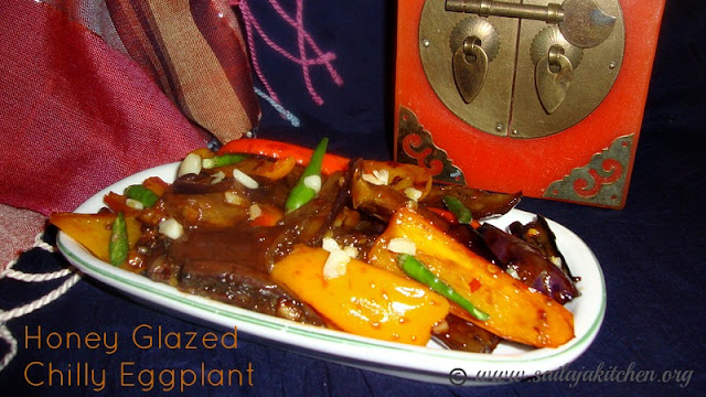 images of Honey Glazed Chilly Eggplant Recipe