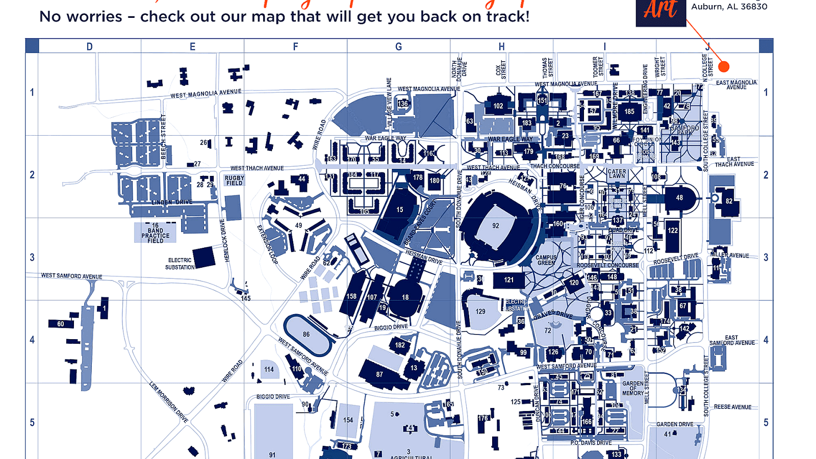thomas nelson community college campus map Auburn University Campus Map University Choices thomas nelson community college campus map