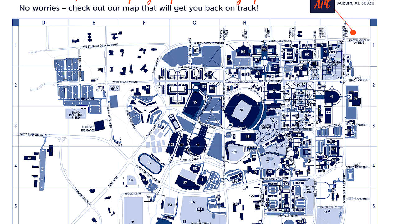 Auburn University Campus Map Auburn University Campus Map   University Choices