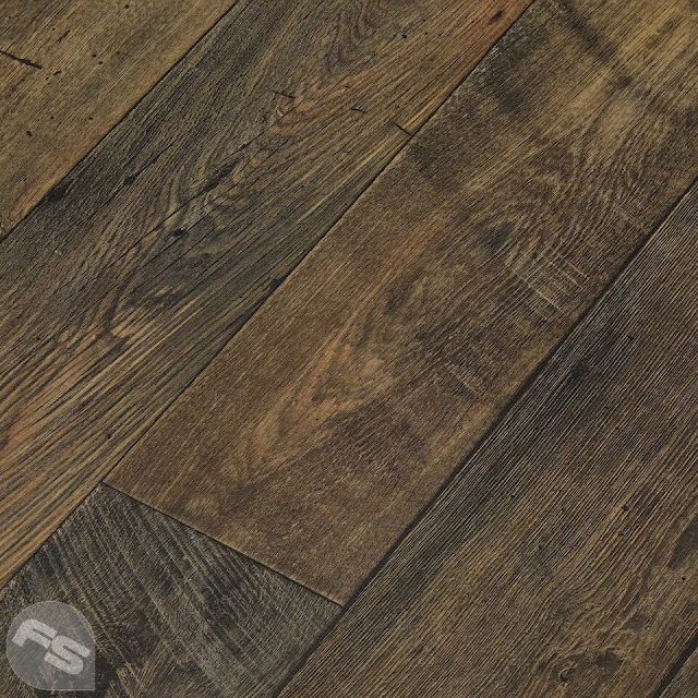 Brown wood effect flooring
