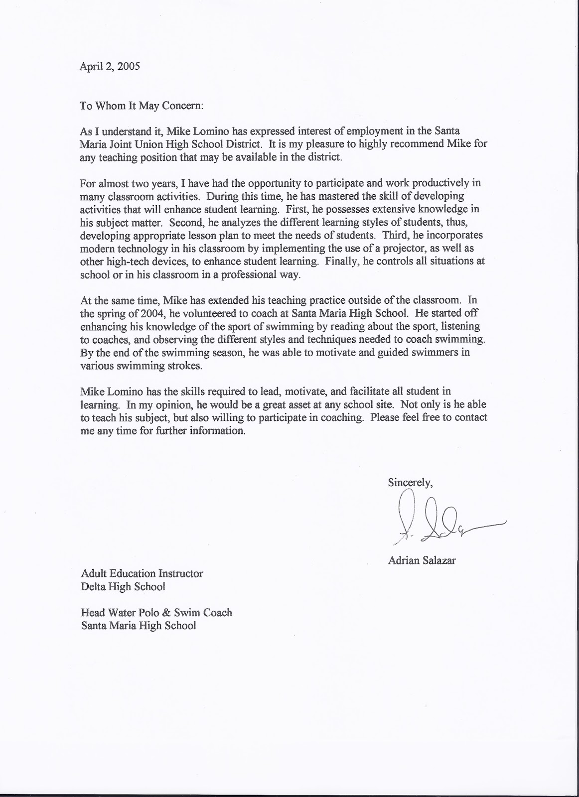 Letter Of Recommendation For Teaching Position from 2.bp.blogspot.com