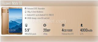 9. Huawei Mate 10