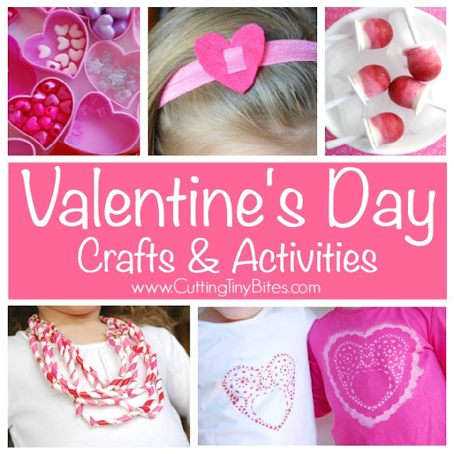 Valentine's Day crafts and activities for preschool, kindergarten, and elementary kids. Includes book lists, healthy snacks, fine motor activities, learning activities, and more!