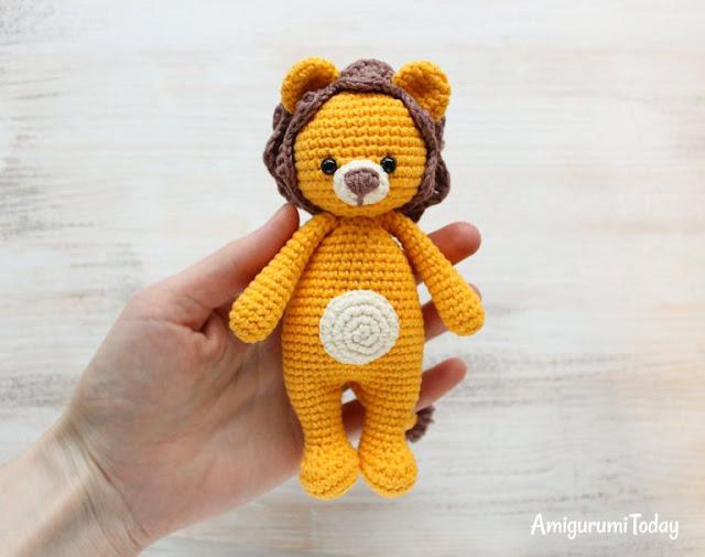 Amigurumi Today Cuddle Me Bear : Amigurumi Cuddle Me Lion-Free Pattern - Amigurumi Free ...