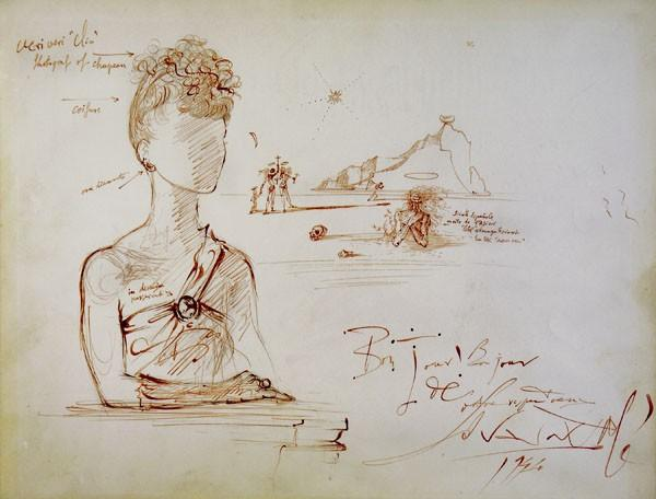 Salvador Dalì -Drawing