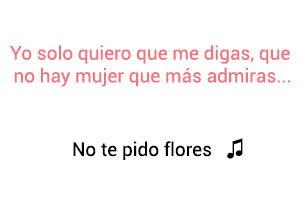 Fanny Lu No Te Pido Flores significado de la canción.