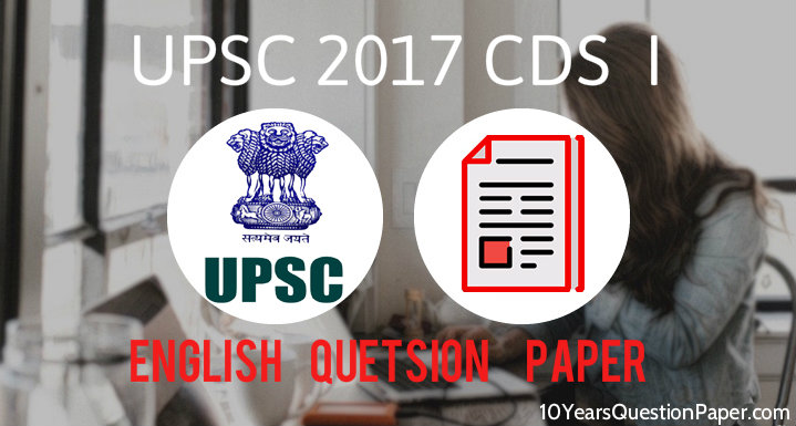 UPSC CDS I Entrance Exam English Question Paper