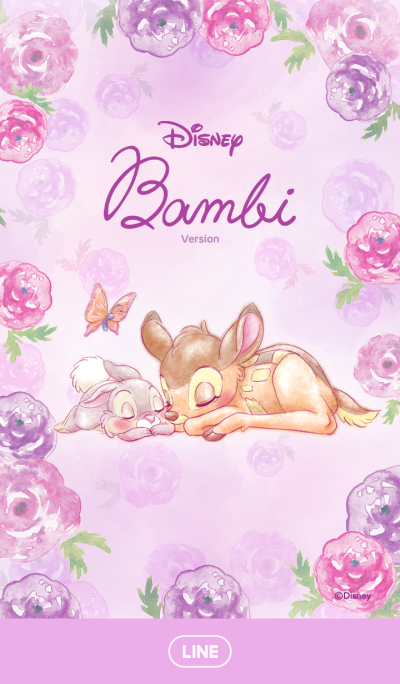 LINE Official Themes - Bambi (Flowers)