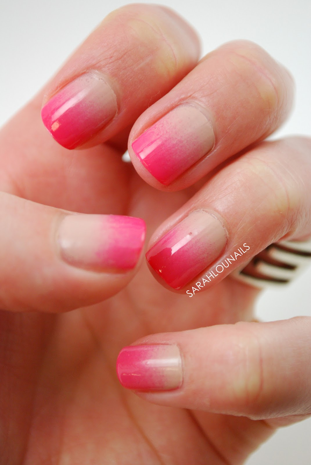 sarah lou nails nude to pink gradient nails. Black Bedroom Furniture Sets. Home Design Ideas