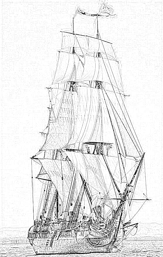 british sailing warship coloring pages - photo#13