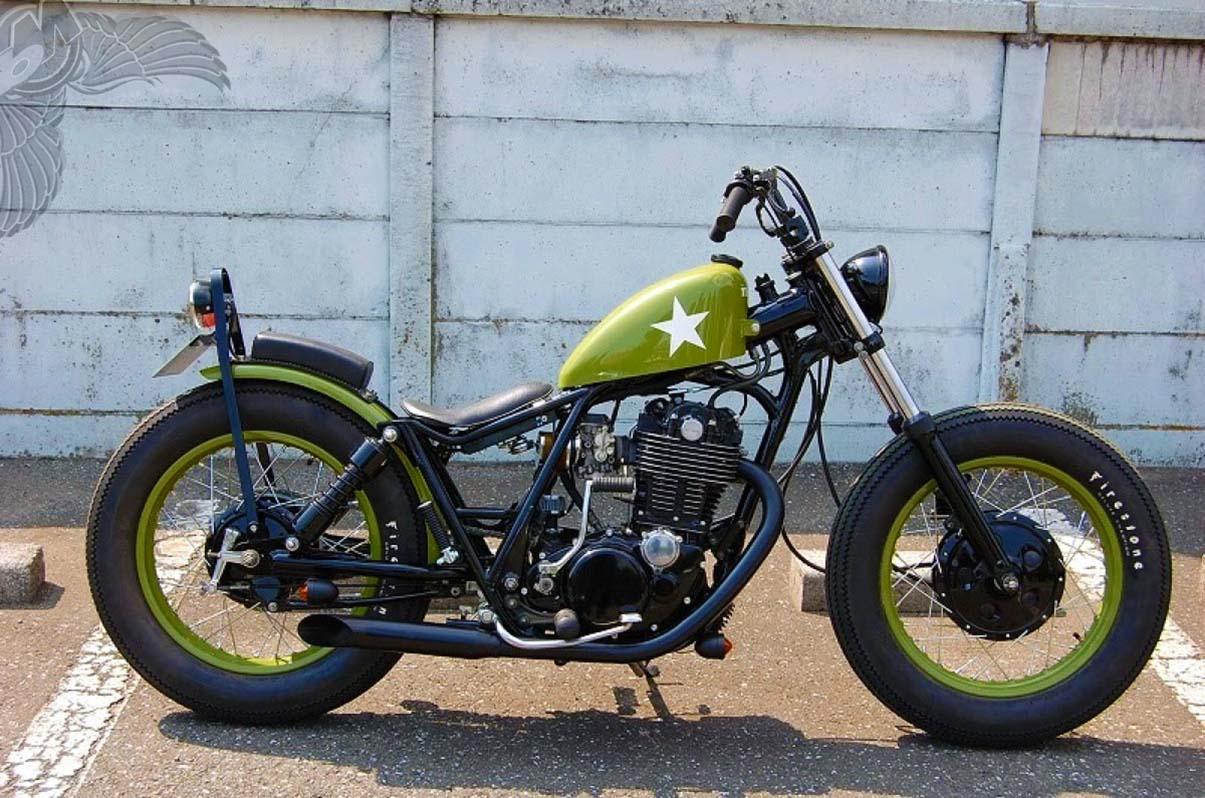 Yamaha SR400 Bobber by Kick Back