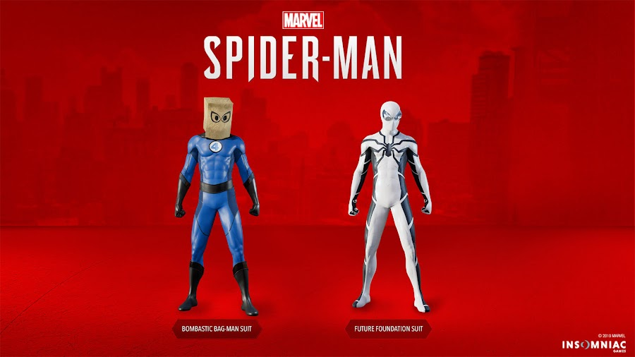 marvels spider-man ps4 fantastic four suits patch 1.14