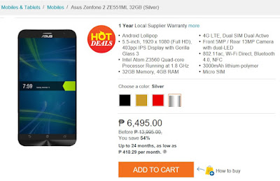 ASUS ZenFone 2 ZE551ML 32GB Now Only Php6,495