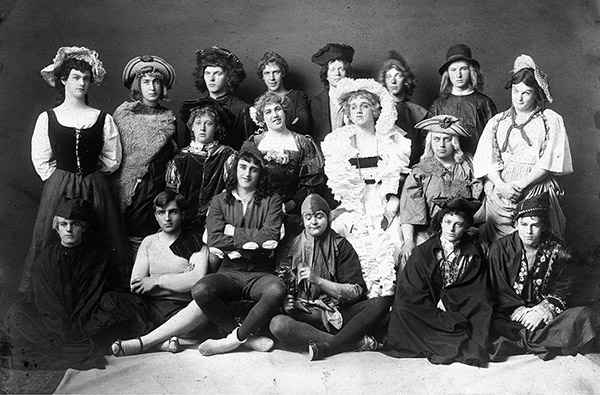 All male cast of As You Like It, University of Maine, 1907