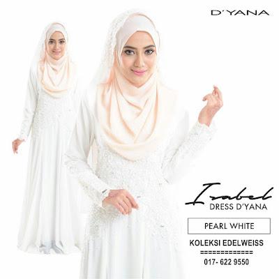 DRESS PENGANTIN MUSLIMAH  PEARL WHITE