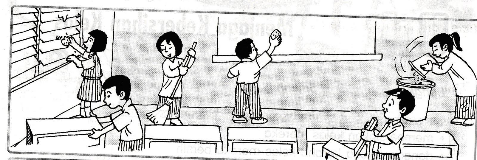 Gambar Orang Lagi Gotong Royong Kartun