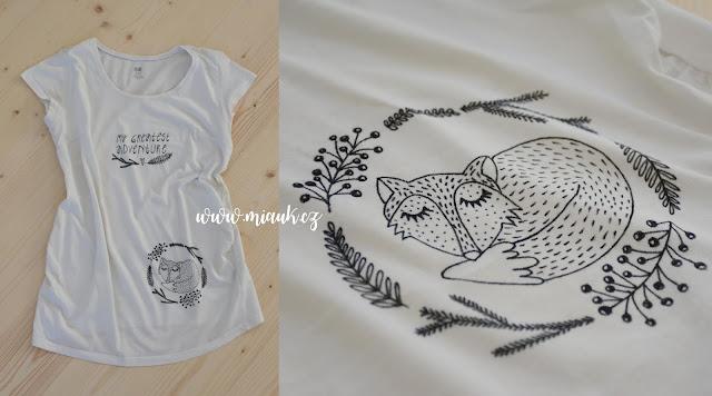 těhotenské tričko liška