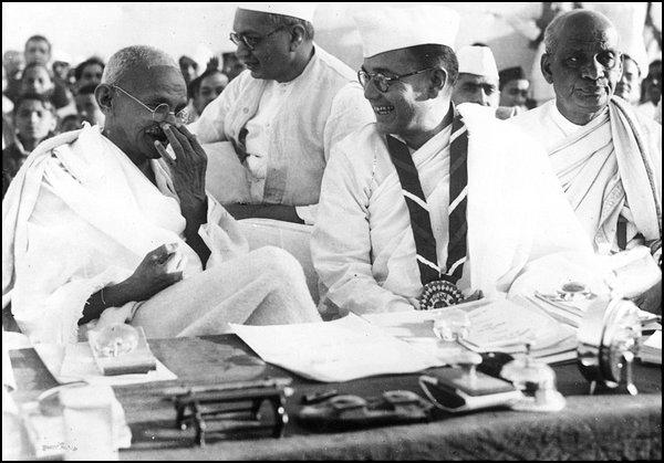 Netaji Subhas Chandra Bose with Mahatma Gandhi - 1938