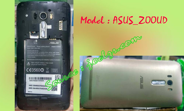 Firmware dan cara flash ZD551KL