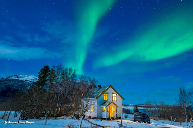 Aurora boreal en Engeloya por El Guisante Verde Project