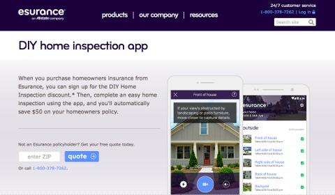Esurance DIY Home Inspection App