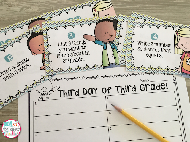 fun first day of school activities for 3rd grade 1000