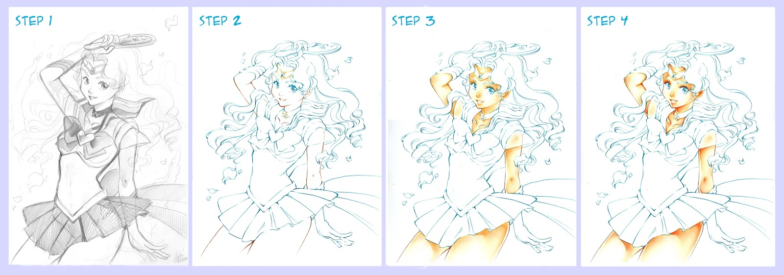 Nashi S World Traditionaly Manga Illustration Tutorial