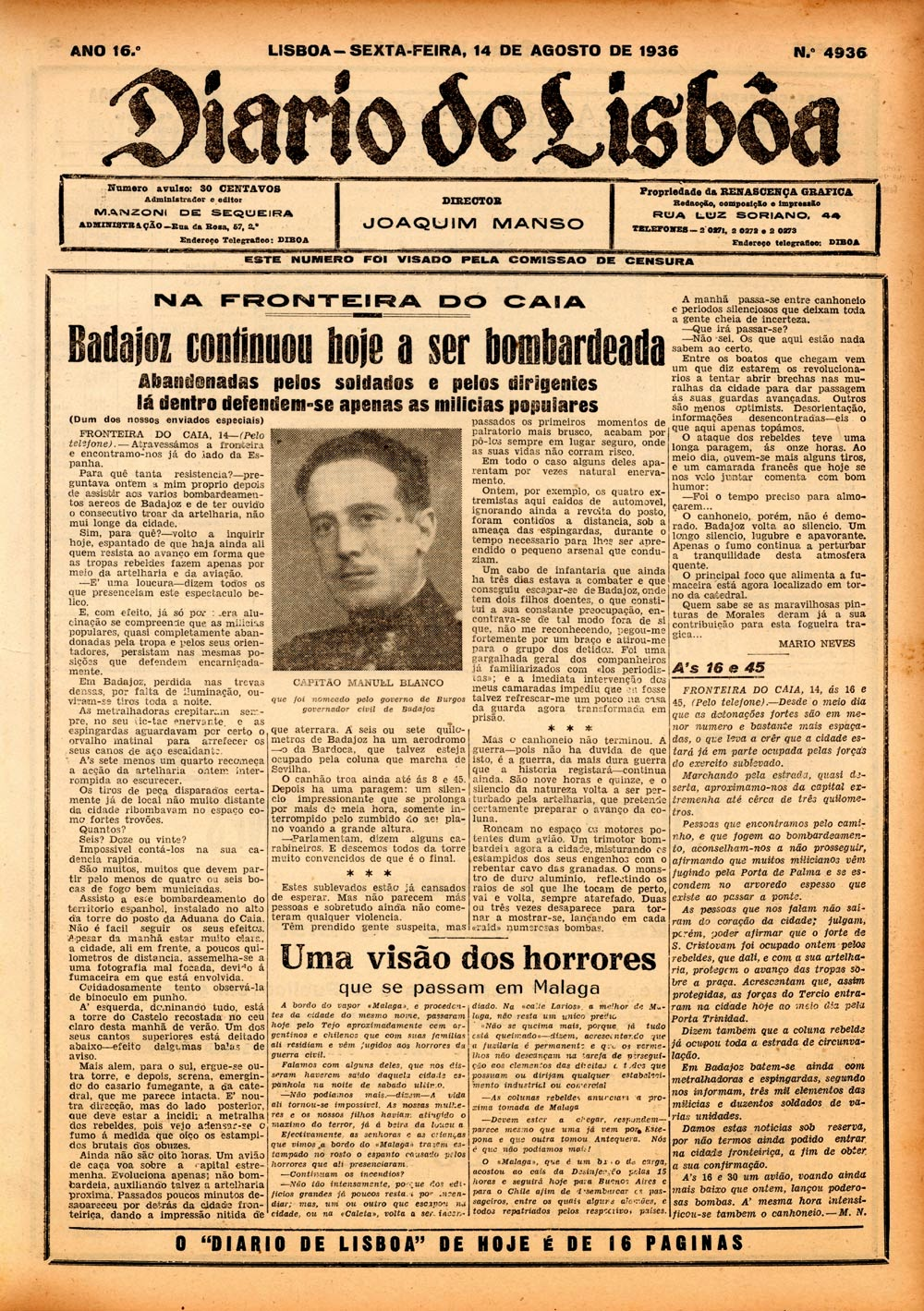 Badajoz y la guerra In Civil Da 14 los criminales al